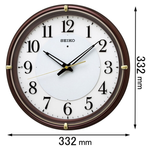KX-233-B セイコークロック 電波掛け時計 ファインライトNEO [KX233B]【返品種別A】