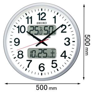 未使用品 正規販売店 KX237S セイコークロック 電波掛け時計 返品種別A
