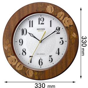 8MY520SR06 リズム時計 電波掛け時計 アマービレ [8MY520SR06]【返品種別A】