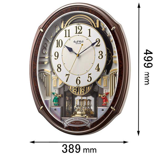4MN545RH23 リズム時計 からくり時計 スモールワールドアルディ [4MN545RH23]【返品種別A】
