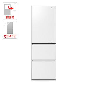 NR-C37HGM-W パナソニック 365L 3ドア冷蔵庫(スノーホワイト)【右開き】 Panasonic エコナビ