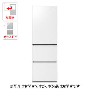 NR-C37HGML-W パナソニック 365L 3ドア冷蔵庫(スノーホワイト)【左開き】 Panasonic エコナビ