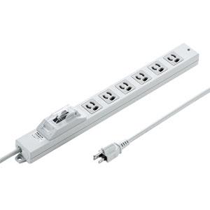 TAP-BR36L-5 サンワサプライ 漏電ブレーカータップ(オフィス・工場用・3P・6個口・5m) [TAPBR36L5]