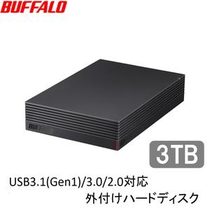 HD-LD3.0U3-BKA バッファロー USB3.1(Gen1)/3.0対応 外付けハードディスク 3.0TB(ブラック) HD-LDU3-Aシリーズ