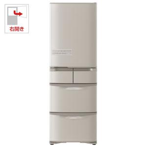 (標準設置料込)R-K40H-T 日立 401L 5ドア冷蔵庫(ソフトブラウン)【右開き】 HITACHI Kシリーズ/まんなか冷凍タイプ