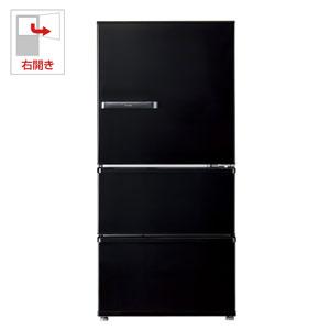 (標準設置料込)AQR-SV24G-K アクア 238L 3ドア冷蔵庫(ヴィンテージブラック)【右開き】 AQUA