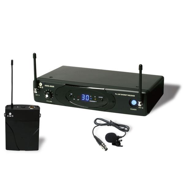 KWS-899P/LM-60 K.W.S ワイヤレスシステム ラベリアマイク(ピンマイク)シングルタイプ