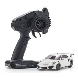 ラジオコントロール 電動ツーリングカー ミニッツRWDシリーズ レディセット ポルシェ 911 GT3 RS ホワイト【32321W】 京商