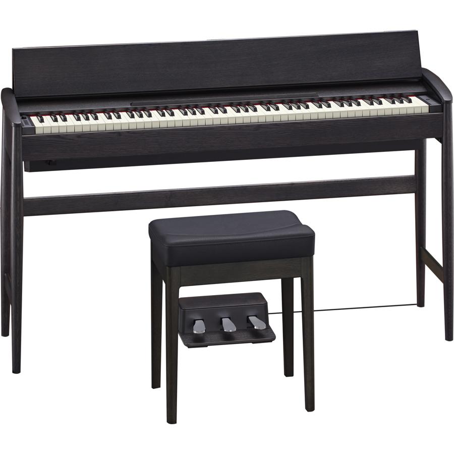KF-10-KSB ローランド&カリモク 電子ピアノ(シアーブラック)【専用固定椅子付き】【台数限定カラー】 Roland Piano Digital KIYOLA