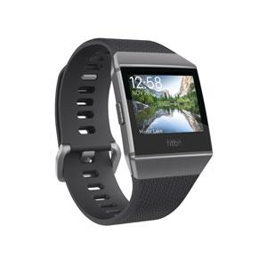 FB503GYBK-CJK フィットビット スマートウォッチ(チャコール/スモークグレー) Fitbit iONIC [FB503GYBKCJK]【返品種別A】