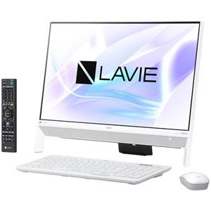 PC-DA700KAW NEC 23.8型デスクトップパソコン LAVIE Desk All-in-one DA700KA ファインホワイト LAVIE 2018年 春モデル(Core i7/メモリ4GB/HDD1TB/TVチューナー/Office H&B)