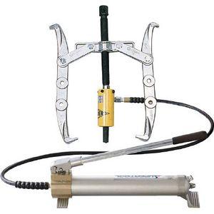 GLP10 スーパーツール 2本爪油圧プーラセット(最大使用外径250) 油圧プーラ