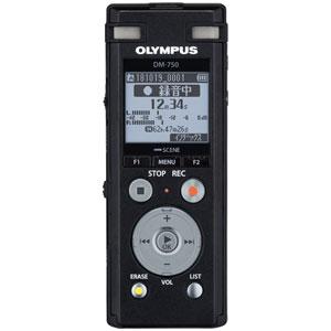 DM-750-BLK オリンパス リニアPCM対応ICレコーダー4GBメモリ内蔵(ブラック) OLMPUS Voice-Trek