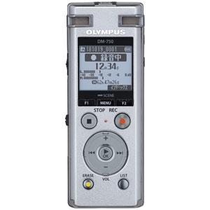 DM-750-SLV オリンパス ファッション通販 リニアPCM対応ICレコーダー4GBメモリ内蔵 Voice-Trek NEW売り切れる前に☆ シルバー OLMPUS