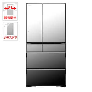 (標準設置料込)R-WX74J-X 日立 735L 6ドア冷蔵庫(クリスタルミラー) HITACHI 真空チルド ラグジュアリーWXシリーズ