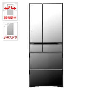 (標準設置料込)R-WX62J-X 日立 615L 6ドア冷蔵庫(クリスタルミラー) HITACHI 真空チルド ラグジュアリーWXシリーズ