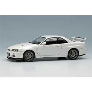 1/43 NISSAN SKYLINE GT-R (BNR34) V-spec II 2000 ホワイトパール【EM371B】 メイクアップ
