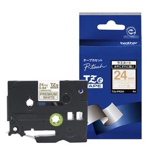 TZE-PR254 ブラザー 商店 P-Touch用 最安値に挑戦 ラミネートテープ 24mm プレミアムホワイト 金文字
