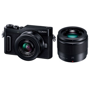 DC-GF10W-K パナソニック デジタル一眼カメラ「LUMIX DC-GF10W」ダブルレンズキット(ブラック)