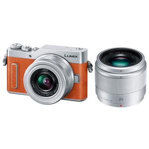DC-GF10W-D パナソニック デジタル一眼カメラ「LUMIX DC-GF10W」ダブルレンズキット(オレンジ)