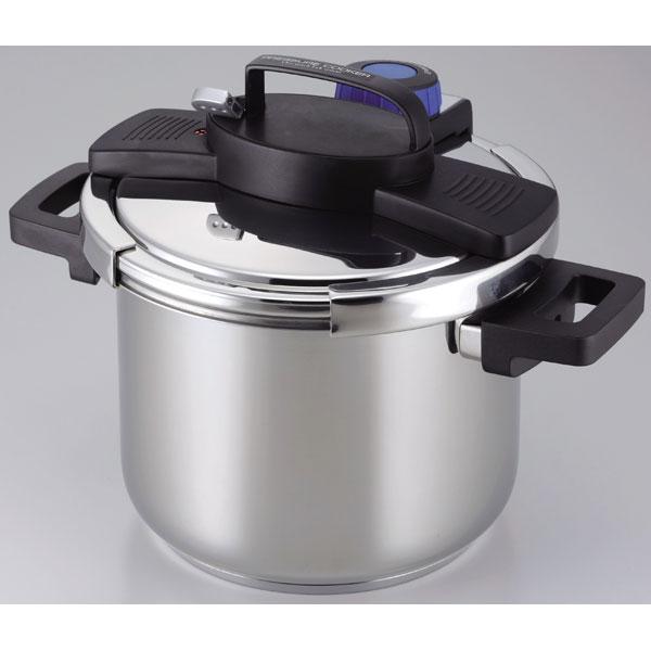 H-5389 パール金属 【IH対応】圧力鍋 3層底ワンタッチレバー圧力鍋 5.5L