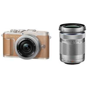 E-PL9 WZKIT(ブラウン) オリンパス ミラーレス一眼カメラ「OLYMPUS PEN E-PL9」EZダブルズームキット(ブラウン)
