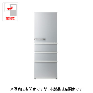 AQR-36GL-S アクア 355L 4ドア冷蔵庫(ミスティシルバー)【左開き】 AQUA