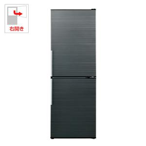 (標準設置料込)AQR-SD28G-HK アクア 275L 2ドア冷蔵庫(ヘアラインブラック)【右開き】 AQUA