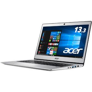 SF113-31-A14Q/S エイサー 13.3型 ノートパソコン Swift 1 ピュアシルバー (KINGSOFT Office 2013 Standard)