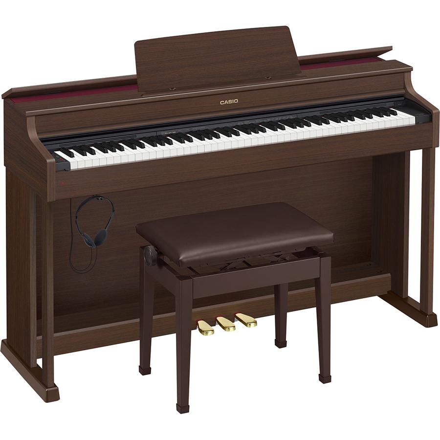 AP-470BN カシオ 電子ピアノ(オークウッド調)【高低自在椅子&ヘッドホン&楽譜集付き】 CASIO CELVIANO(セルヴィアーノ)