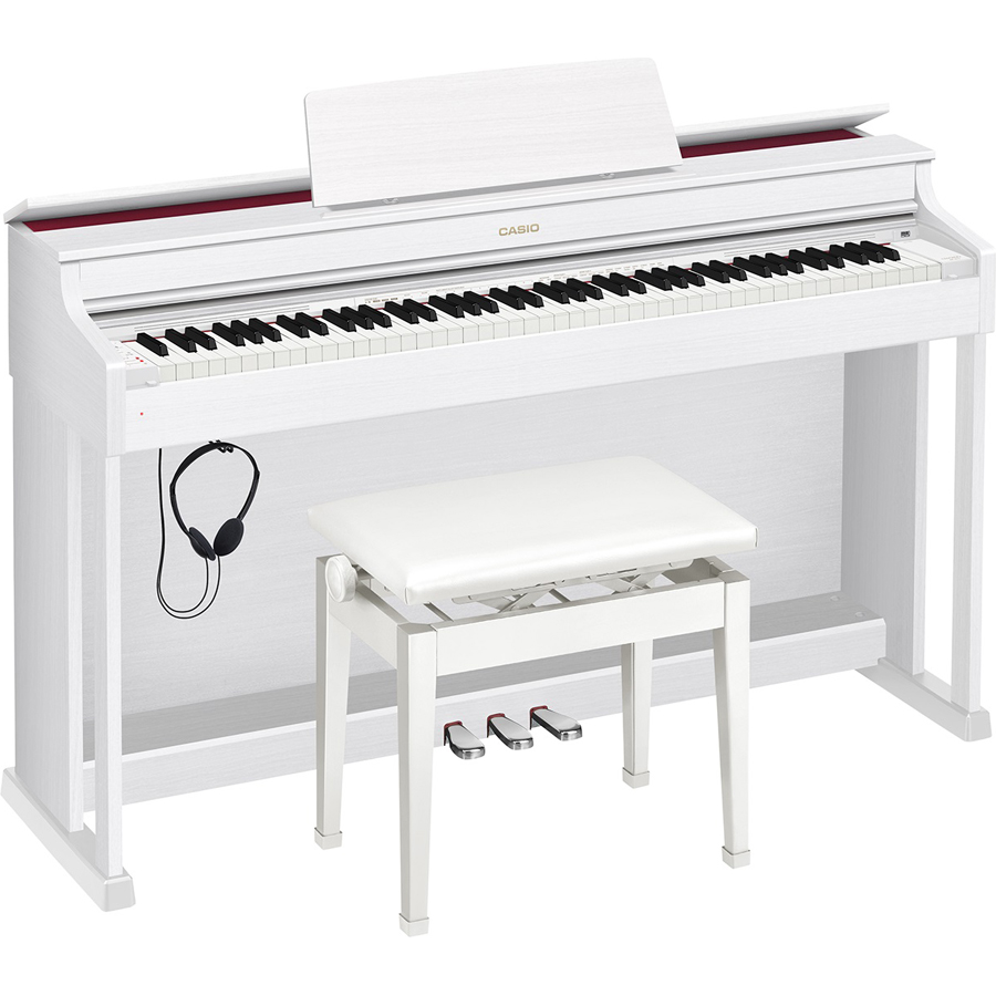 AP-470WE カシオ 電子ピアノ(ホワイトウッド調)【高低自在椅子&ヘッドホン&楽譜集付き】 CASIO CELVIANO(セルヴィアーノ)