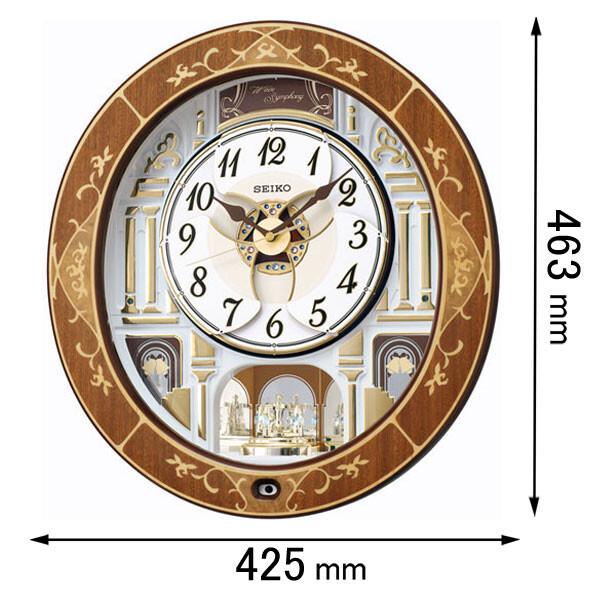 RE-580-B セイコークロック 電波からくり時計 セイコーメロディ [RE580B]【返品種別A】