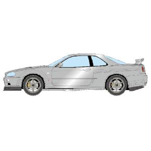 1/43 NISSAN SKYLINE GT-R (BNR34) V-spec II 2000 アスリートシルバー【EM371F】 メイクアップ