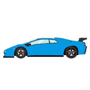 1/43 Lamborghini Diablo SVR 1996 ブルー (ブラックホイール)【EM348A】 メイクアップ