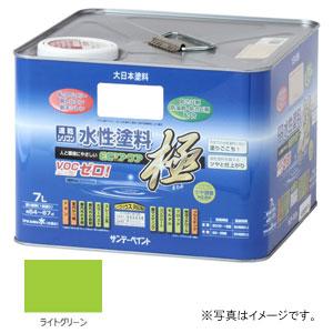 #275830 サンデーペイント 水性塗料 ECOアクア 極 ライトグリーン 7L