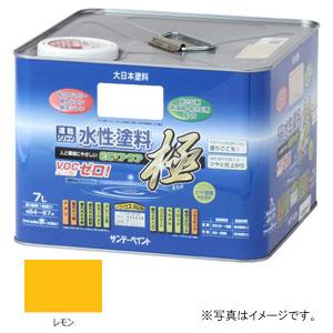 #275915 サンデーペイント 水性塗料 ECOアクア 極 レモン 7L