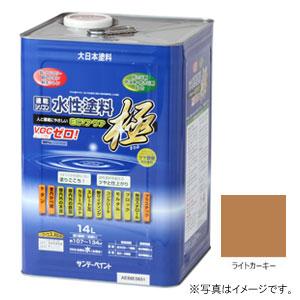 #276813 サンデーペイント 水性塗料 ECOアクア 極 ライトカーキー 14L