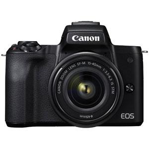 EOSKISSMBK-1545LK キヤノン ミラーレス一眼カメラ「EOS Kiss M」EF-M15-45 IS STM レンズキット(ブラック) Canon