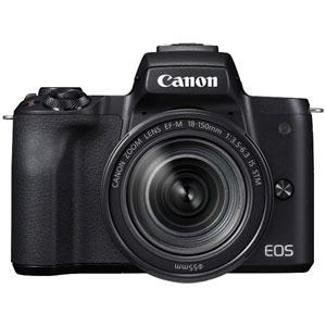 EOSKISSMBK-18150IS キヤノン ミラーレス一眼カメラ「EOS Kiss M」EF-M18-150 IS STM レンズキット(ブラック) Canon