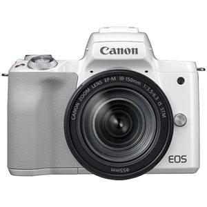 EOSKISSMWH-18150IS キヤノン ミラーレスカメラ「EOS Kiss M」EF-M18-150 IS STM レンズキット(ホワイト)