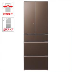 (標準設置料込)R-HW52J-XH 日立 520L 6ドア冷蔵庫(グレイッシュブラウン) HITACHI 真空チルド