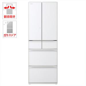 (標準設置料込)R-HW52J-XW 日立 520L 6ドア冷蔵庫(クリスタルホワイト) HITACHI 真空チルド