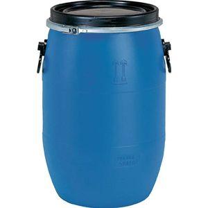 SKPDO-60L-1-BL 三甲 プラドラムオープンタイプ 60L(青) ドラム缶