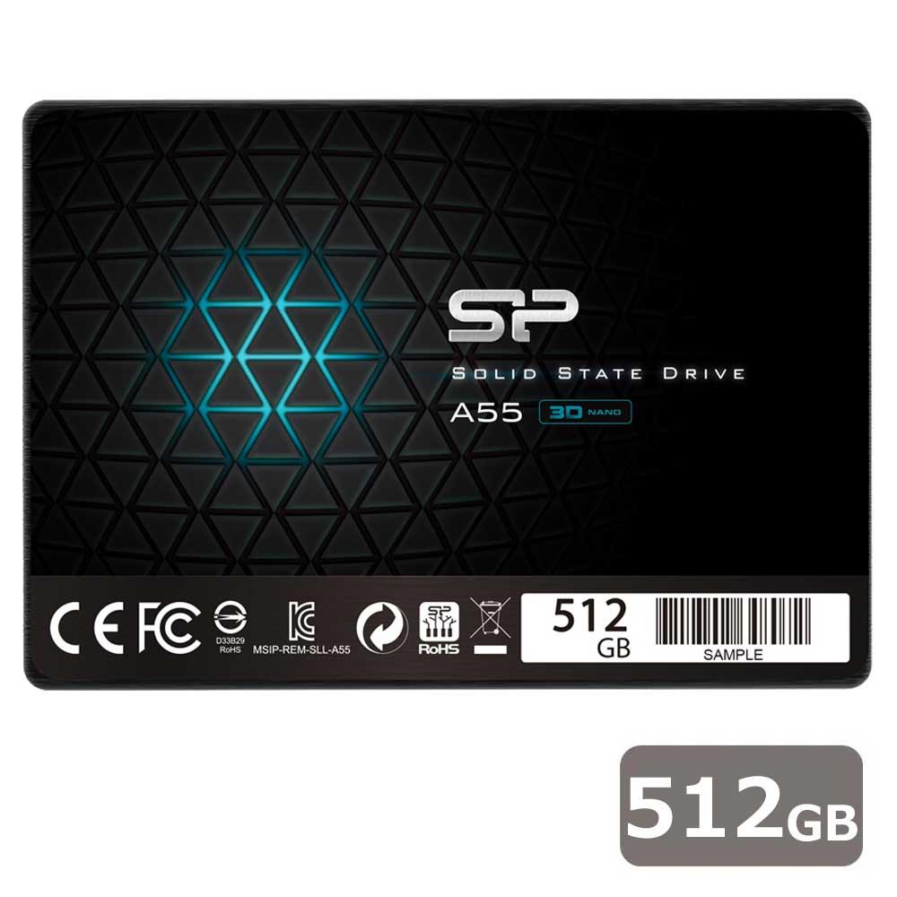 SPJ512GBSS3A55B シリコンパワー SiliconPower SSD Ace A55シリーズ 512GB 【PlayStation4/4 PRO 動作確認済】