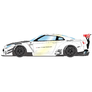 1/43 LB★WORKS GT-R Type 2 2017 パールホワイト【LB006A】 メイクアップ
