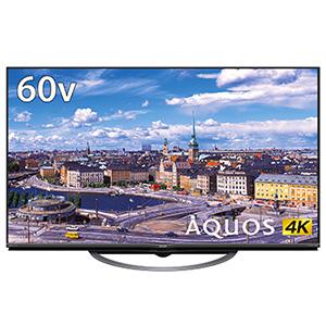 (標準設置料込_Aエリアのみ)4T-C60AJ1 シャープ 60V型地上・BS・110度CSデジタル 4K対応 LED液晶テレビ (別売USB HDD録画対応) Android TV 機能搭載4K対応AQUOS