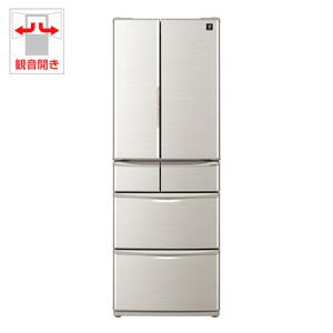 (標準設置料込)SJ-F462D-S シャープ 455L 6ドア冷蔵庫(シルバー系) SHARP プラズマクラスター冷蔵庫