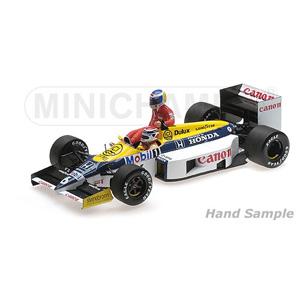 1/18 ウィリアムズ ホンダ FW11 ケケ・ロズベルグ ドイツGP 1986 ライド オン ネルソン・ピケ フィギュア付【117860106】 ミニチャンプス