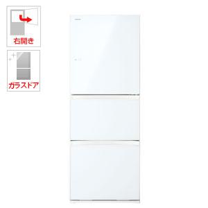 GR-M33SXV-EW 東芝 330L 3ドア冷蔵庫(グランホワイト)【右開き】 TOSHIBA VEGETA(べジータ)