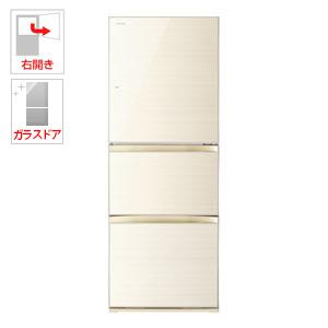 GR-M33SXV-ZC 東芝 330L 3ドア冷蔵庫(ラピスアイボリー)【右開き】 TOSHIBA VEGETA(べジータ)
